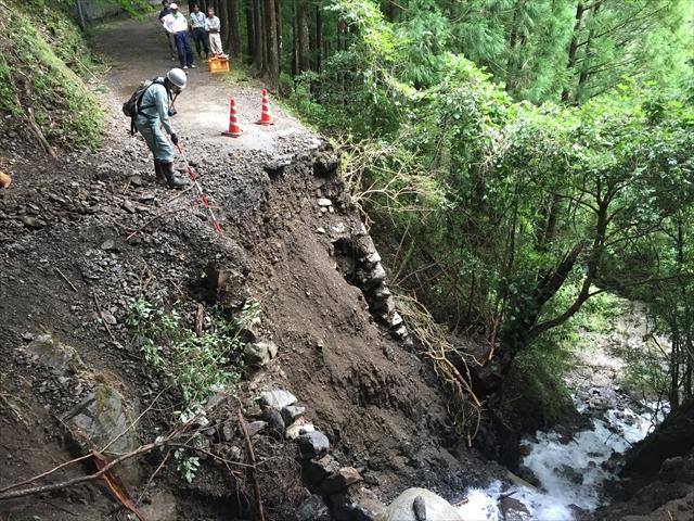 平成30年8月台風災害 R425 道路復旧